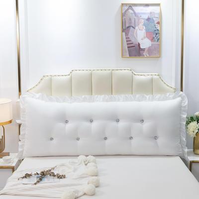 2020新款可拆洗韩版床头靠枕 100*60*20cm 云峰白