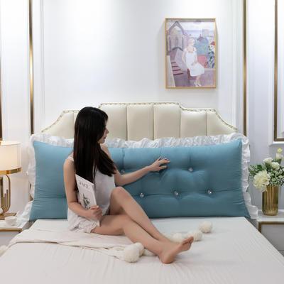 2020新款可拆洗韩版床头靠枕 100*60*20cm 鲸鱼蓝