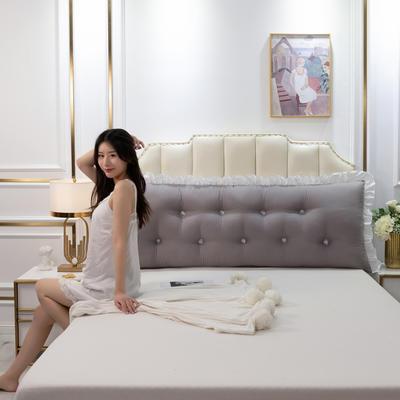 2020新款可拆洗韩版床头靠枕 100*60*20cm 绅士灰