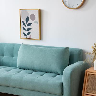 2020新款韩国绒沙发腰靠 长70X高度35X厚度17(厘米) 湖蓝