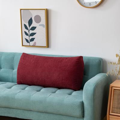 2020新款韩国绒沙发腰靠 长70X高度35X厚度17(厘米) 酒红