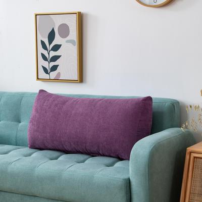 2020新款韩国绒沙发腰靠 长70X高度35X厚度17(厘米) 罗兰紫