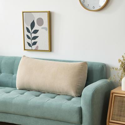 2020新款韩国绒沙发腰靠 长70X高度35X厚度17(厘米) 浅米灰