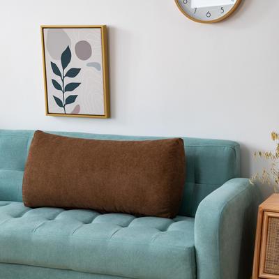 2020新款韩国绒沙发腰靠 长70X高度35X厚度17(厘米) 乌木咖