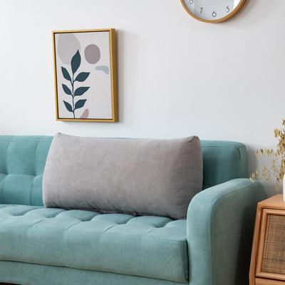 2020新款韩国绒沙发腰靠 长70X高度35X厚度17(厘米) 银石灰