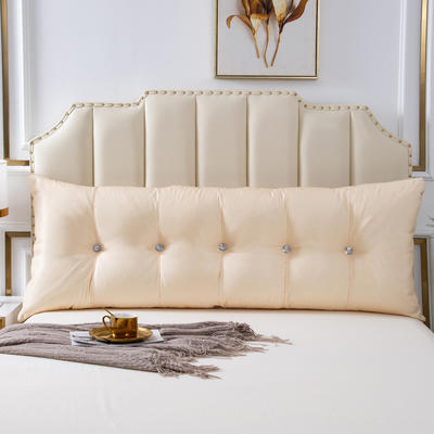 2020新款AB双面冰丝面料+韩国绒床头靠垫 沙发靠枕 长100X高60X厚度20(厘米) 浅米灰