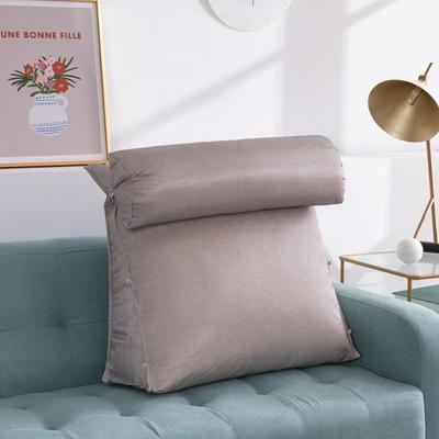 2020新款夏季冰丝床头靠垫 沙发靠枕  抱枕靠背垫   沙发护腰靠背垫   三角靠垫枕 长45X高45X厚度20(厘米) 浅灰