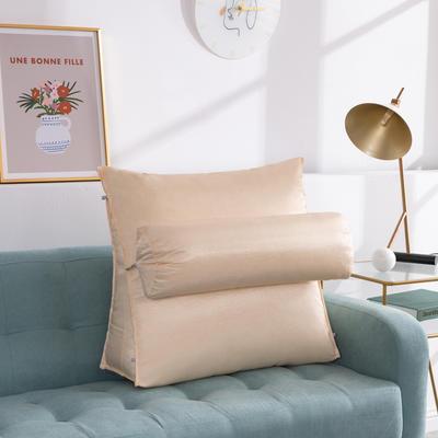 2020新款夏季冰丝床头靠垫 沙发靠枕  抱枕靠背垫   沙发护腰靠背垫   三角靠垫枕 长45X高45X厚度20(厘米) 浅米灰