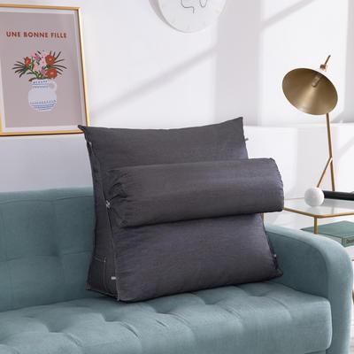 2020新款夏季冰丝床头靠垫 沙发靠枕  抱枕靠背垫   沙发护腰靠背垫   三角靠垫枕 长45X高45X厚度20(厘米) 深灰