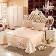 水洗提花冰丝席床单三件套 250*250cm 金碧辉煌金色