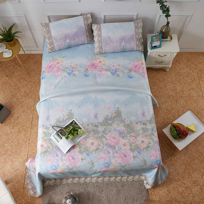 大版印花水洗冰丝床单 250*250cm 贝洛克