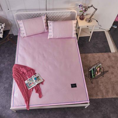 席多多 纯色冰丝席 150*195cm 纯色粉红