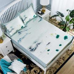 高端水洗提花床包席三件套 150*200CM 烟波琉璃