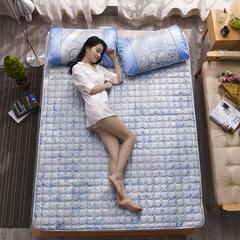 冰丝床垫三件套 90*190cm 芬芳花语蓝床垫