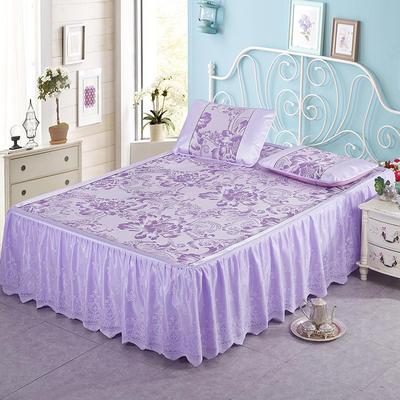 2020新款特价床裙系列凉席 180*198 五彩缤纷紫