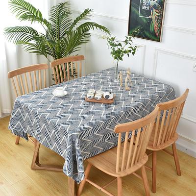 2020新款棉麻提花桌布 65*65 cm(可当盖巾) 藏蓝