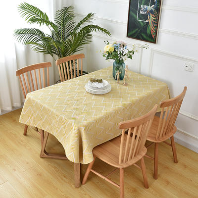 2020新款棉麻提花桌布 65*65 cm(可当盖巾) 黄色