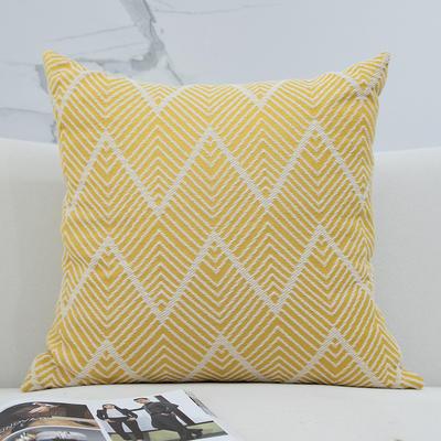 2020新款-北欧简约抱枕 30x50cm单枕套 波浪纹-黄色