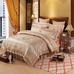 欧式刺绣花夹棉床笠式床罩床裙四件套 2.0m(6.6英尺)床 盛世宫廷