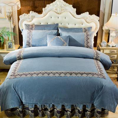 2018新款好眠好梦   艾薇儿系列水晶绒系列四件套 1.2m(4英尺)床 艾薇儿-灰色