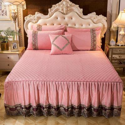 2018新款好眠好梦   艾薇儿系列水晶绒系列单床裙 床裙三件套 120*200cm 艾薇儿-玉色