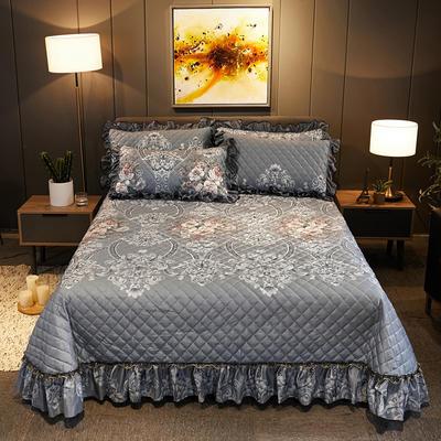2019新款水晶绒床盖款 单床盖:245cmx250cm 可可西里