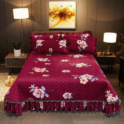 2019新款水晶绒床盖款 单床盖:245cmx250cm 迷梦花香