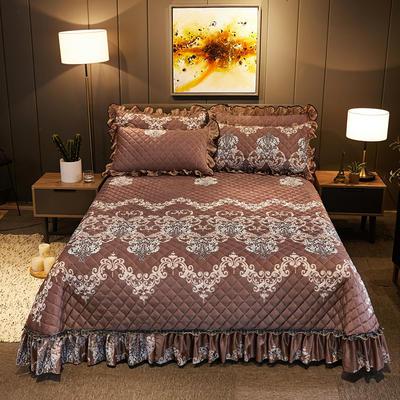2019新款水晶绒床盖款 单床盖:245cmx250cm 欧若拉