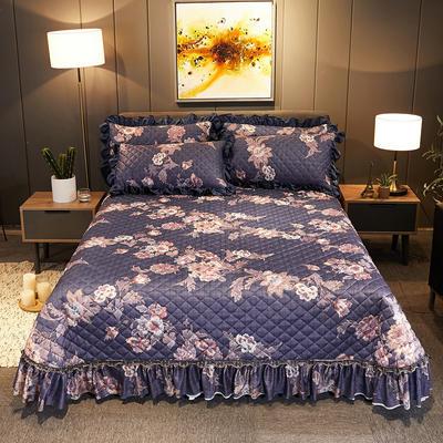 2019新款水晶绒床盖款 单床盖:245cmx250cm 秋水伊人