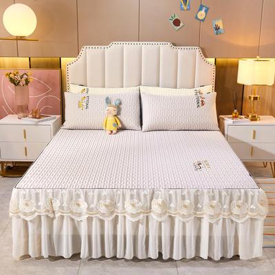2021新款-中国风床裙款乳胶凉席三件套 1.8米三件套 中国风-珍珠灰