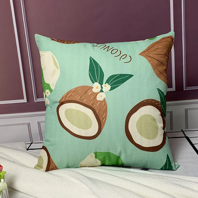 亚麻抱枕含芯45*45 45x45cm 牛油果