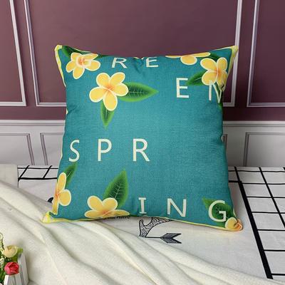 亚麻抱枕含芯45*45 45x45cm 字母花