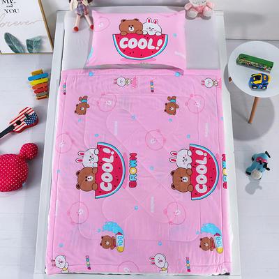2020新款-棉绸凉感夏被 120x150cm 西瓜熊 粉