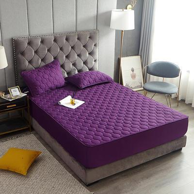 2020新款亲肤棉夹棉包边床笠 90cmx200cm 丁香紫