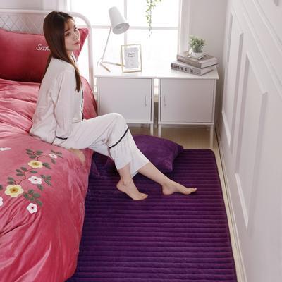 2019新款-地垫兔毛绒 60*150cm 兔毛绒-高雅紫
