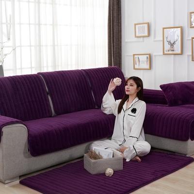 20189新款-沙发垫兔毛绒 70*70cm 兔毛绒-高雅紫