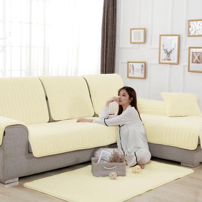20189新款-沙发垫兔毛绒 70*70cm 兔毛绒-米黄