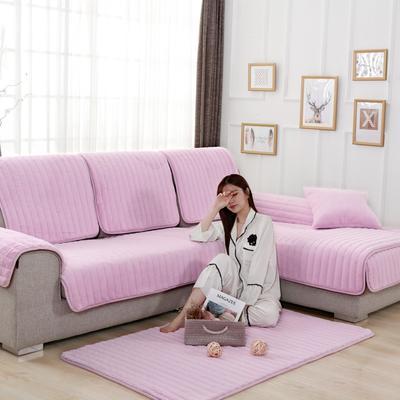 20189新款-沙发垫兔毛绒 70*70cm 兔毛绒-肉粉