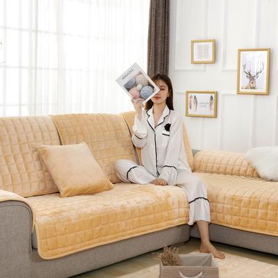 20189新款-沙发垫法莱绒 70*70cm 法莱绒-米稠黄
