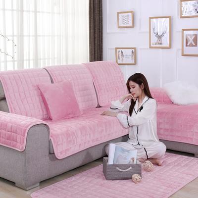 20189新款-沙发垫法莱绒 70*70cm 法莱绒-肉粉