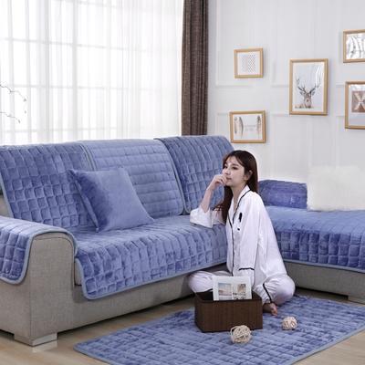 20189新款-沙发垫法莱绒 70*70cm 法莱绒-雾蓝