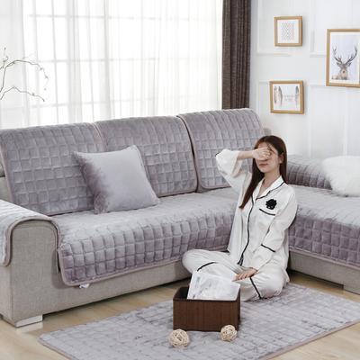20189新款-沙发垫法莱绒 70*70cm 法莱绒-月灰