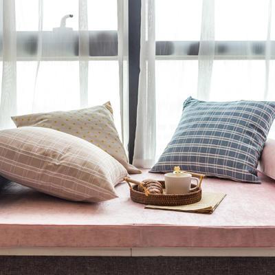 2020定制海绵飘窗垫提花雪尼尔棉麻印花坐垫日系欧式 5厘米常规款不带滚边 3(雪尼尔肉粉)