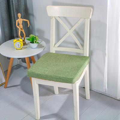 2020新品北欧现代办公室椅子学生凳子棉麻椅垫海绵坐垫 40*40cm5厘米厚 棉麻素色草绿