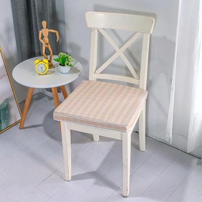 2020新品北欧现代办公室椅子学生凳子棉麻椅垫海绵坐垫 40*40cm5厘米厚 棉麻提花米黄