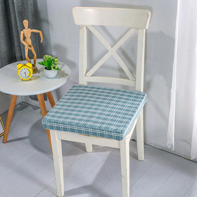 2020新品北欧现代办公室椅子学生凳子棉麻椅垫海绵坐垫 40*40cm5厘米厚 棉麻提花雅韵蓝
