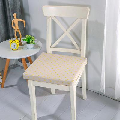 2020新品北欧现代办公室椅子学生凳子棉麻椅垫海绵坐垫 40*40cm5厘米厚 小雏菊