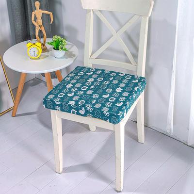 2020新品北欧现代办公室椅子学生凳子棉麻椅垫海绵坐垫 40*40cm5厘米厚 招财猫
