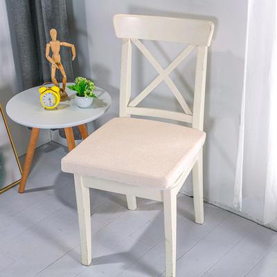 2020新品北欧现代办公室椅子学生凳子棉麻椅垫海绵坐垫 40*40cm5厘米厚 雪尼尔米黄