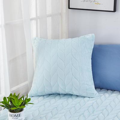 2020新款-麦穗系列飘窗垫单抱枕 45*45cm抱枕含芯/个 蒂芙蓝